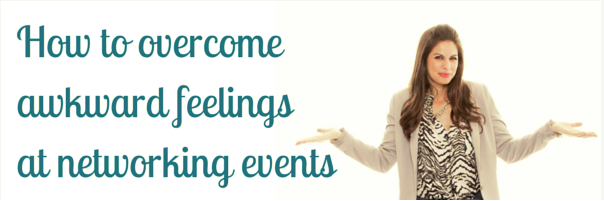 How to overcome awkward feelings at networking events
