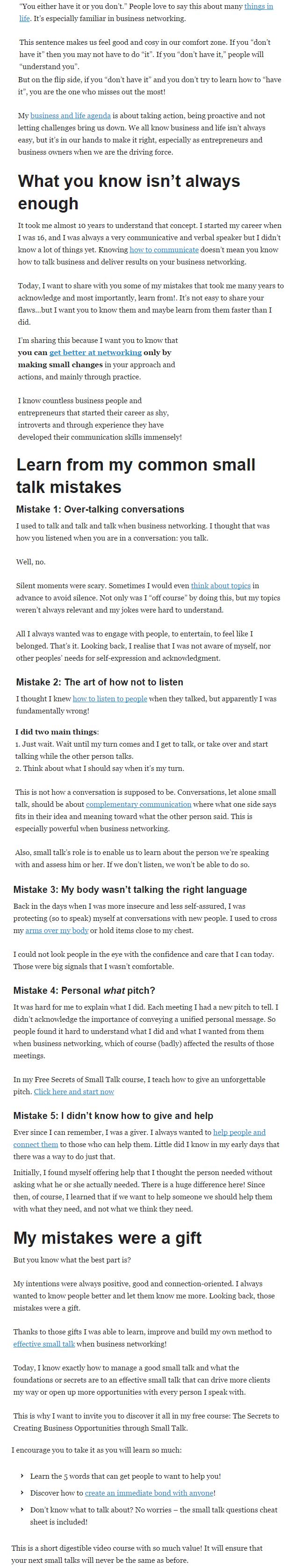 Small talk article_